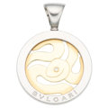 Estate Jewelry:Pendants and Lockets, Diamond, Gold, Stainless Steel Pendant, Bvlgari. ...