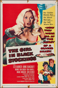 """The Girl in Black Stockings (United Artists, 1957). One Sheet (27"""" X 41""""). Crime"""