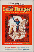 "Movie Posters:Western, The Lone Ranger (Warner Brothers, 1956). One Sheet (27"" X 41""). Western.. ..."