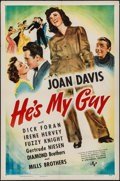 "Movie Posters:Comedy, He's My Guy (Universal, 1943). One Sheet (27"" X 41""). Comedy.. ..."