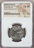 Ancients:Roman Provincial , Ancients: SYRIA. Antioch. Julius Caesar, as Imperator and Dictator(49-44 BC). AR tetradrachm. NGC Choice VF....