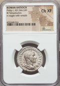 Ancients:Roman Provincial , Ancients: SYRIA. Antioch. Philip I (AD 244-249). BI tetradrachm.NGC Choice XF....