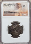 Ancients:Roman Provincial , Ancients: EGYPT. Alexandria. Hadrian (AD 117-138). BI tetradrachm.NGC VF....