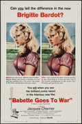 "Movie Posters:Foreign, Babette Goes to War (Columbia, 1960). One Sheet (27"" X 41""). Foreign.. ..."