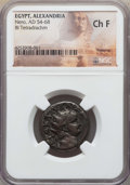 Ancients:Roman Provincial , Ancients: EGYPT. Alexandria. Nero (AD 54-68), with Poppaea. BItetradrachm. NGC Choice Fine....