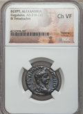 Ancients:Roman Provincial , Ancients: EGYPT. Alexandria. Elagabalus (AD 218-222). BItetradrachm. NGC Choice VF....