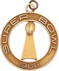 Football Collectibles:Others, 1968 Super Bowl II Gold Pendant - Gift from Vince Lombardi to Green Bay Packers' Wives. ...