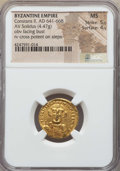 Ancients:Byzantine, Ancients: Constans II (AD 641-668). AV solidus (4.47 gm). NGC MS5/5 - 4/5. ...