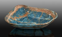 Blue Calcite Bowl Andes Mountains Argentina South America
