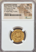 Ancients:Byzantine, Ancients: Maurice Tiberius (AD 582-602). AV solidus (4.36 gm). NGCMS 5/5 - 4/5, clipped....