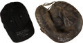 Baseball Collectibles:Others, 1940's Ruth Richard Game Used Catcher's Mitt & Cap Attributedto Rockford Peaches. ...