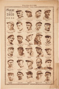"Baseball Collectibles:Others, 1919 Chicago White Sox Team Photo Collage ""Chicago Tribune""Page...."