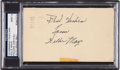 Baseball Collectibles:Others, 1951 Willie Mays Signed Government Postcard, PSA/DNA Mint 9. ...