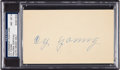 Baseball Collectibles:Others, 1953 Cy Young Signed Government Postcard, PSA/DNA NM-MT 8. ...