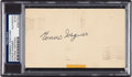 Baseball Collectibles:Others, 1951 Honus Wagner Signed Government Postcard. ...