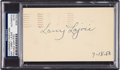 "Baseball Collectibles:Others, 1953 Napoleon ""Larry"" Lajoie Signed Government Postcard. ..."