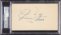 Baseball Collectibles:Others, 1953 Jimmie Foxx Signed Government Postcard. ...