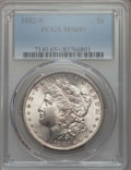 Morgan Dollars: , 1882-S $1 MS65+ PCGS. PCGS Population: (18642/5955 and 241/264+). NGC Census: (19087/8323 and 205/214+). CDN: $150 Whsle. B...