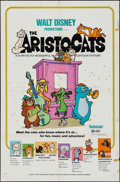 "Movie Posters:Animation, The Aristocats (Buena Vista, 1970). One Sheet (27"" X 41""). Animation.. ..."