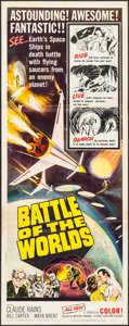 """Movie Posters:Science Fiction, Battle of the Worlds (Topaz, 1963). Insert (14"""" X 36""""). ScienceFiction.. ..."""