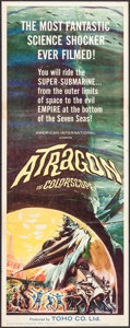 "Movie Posters:Science Fiction, Atragon (American International, 1964). Insert (14"" X 36""). ScienceFiction.. ..."