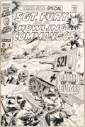 Original Comic Art:Covers, Dick Ayers and John Severin Sgt. Fury and His Howling CommandosAnnual #4 Cover Original Art (Marvel, 1968)....