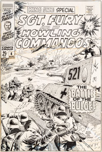 Dick Ayers and John Severin Sgt. Fury and His Howling Commandos Annual #4 Cover Original Art (Marvel, 1968)