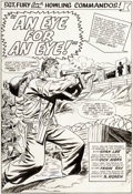 Original Comic Art:Splash Pages, Dick Ayers and Frank Giacoia (as Frank Ray) Sgt. Fury and His Howling Commandos #19 Splash Page 1 Original Art (Ma...