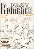 Original Comic Art:Covers, Al Avison First Romance Magazine #1 Cover Original Art(Harvey, 1949).... (Total: 2 Original Art)