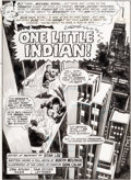 Original Comic Art:Splash Pages, Gene Colan and Dan Adkins Tower of Shadows #4 Splash PageOriginal Art (Marvel, 1970)....