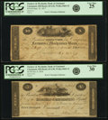 Obsoletes By State:Ohio, Cincinnati, OH - Lot of 2 Farmers & Mechanics Bank ofCincinnati Murray, Draper, Fairman & Co. Engraved IssuedNotes.. ... (Total: 2 notes)