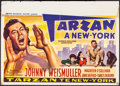 "Movie Posters:Adventure, Tarzan's New York Adventure (MGM, Late 1940s). Post War ReleaseBelgian (15.5"" X 21.5""). Adventure.. ..."