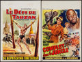 "Movie Posters:Adventure, Tarzan's Three Challenges & Other Lot (MGM, 1963). Belgians (2)(Approx. 14"" X 21.5""). Adventure.. ... (Total: 2 Items)"