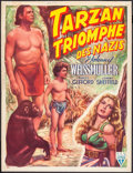 "Movie Posters:Adventure, Tarzan Triumphs (RKO, 1947). Trimmed First Post War Release Belgian(14"" X 18""). Adventure.. ..."
