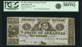 Obsoletes By State:Arkansas, Little Rock, AR - Arkansas Treasury Warrant $10 Mar. 6, 1863 Cr. 56C. PCGS Choice About New 58PPQ.. ...