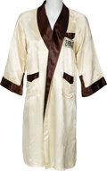Boxing Collectibles:Memorabilia, 1980 Matthew Saad Muhammad Fight Worn Robe from Lopez II Bout....