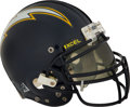Football Collectibles:Helmets, Circa 1999 Natrone Means Game Worn San Diego Chargers Helmet....