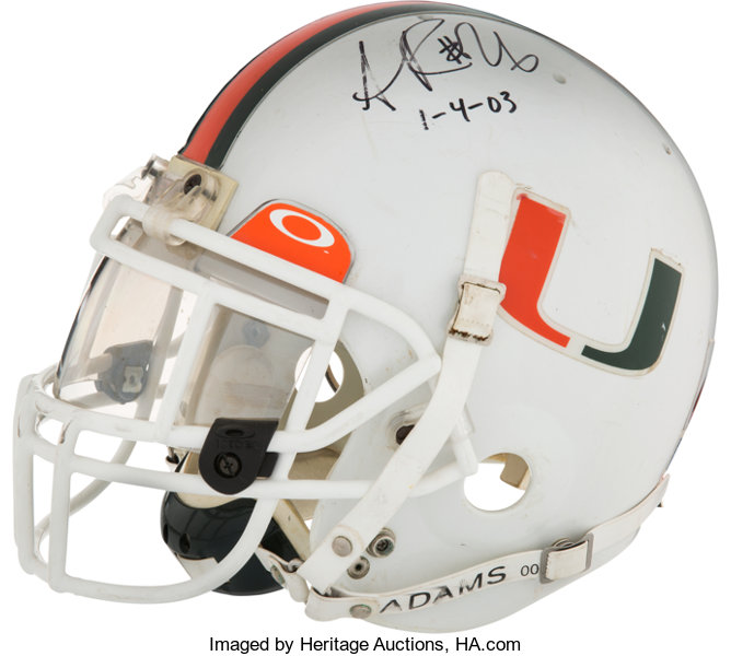 online retailer 8ab14 22d09 2003 Sean Taylor Game Worn, Signed Miami Hurricanes National ...