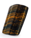 Lapidary Art:Carvings, Tiger's Eye Slab. South Africa. 4.72 x 2.76 x 0.24 inches (12.00x 7.00 x 0.60 cm). ...