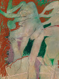 , Otis Huband (American, b. 1933). Figures in a Pool, 2006. Oil on canvas. 39-1/2 x 30 inches (100.3 x 76.2 cm). Signed an...