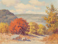 Miscellaneous, Robert William Wood (American, 1889-1979). New Braunfels, Texas. Oil on canvasboard. 12 x 16 inches (30.5 x 40.6 cm). Si...