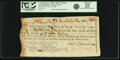 "Colonial Notes:Continental Congress Issues, United States of America - Continental Loan Office in the State of""New Hampshire"" Exchange for $24/120 Livres Tournois Fourth..."
