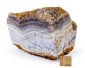 "Lapidary Art:Carvings, ""Sowbelly"" Agate. Last Chance Mine. Commodore Vein. Creede,Colorado. 5.63 x 4.13 x 4.25 inches (14.30 x 10.50 x 10.80cm)..."