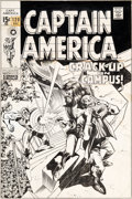 Original Comic Art:Covers, Gene Colan and Joe Sinnott Captain America #120 CoverOriginal Art (Marvel, 1969)....