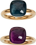 Estate Jewelry:Rings, Amethyst, Topaz, Gold Rings, Pomellato. ... (Total: 2 Items)
