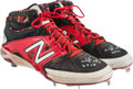 Baseball Collectibles:Others, 2014 Nomar Mazara Game Worn & Signed Cleats. ...