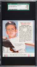 Baseball Cards:Singles (1950-1959), 1954 Red Man Nellie Fox #3 SGC 92 NM/MT+ 8.5 - Pop Two, NoneHigher....