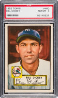 Baseball Cards:Singles (1950-1959), 1952 Topps Bill Dickey #400 PSA NM-MT 8....