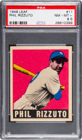 Baseball Cards:Singles (1940-1949), 1948 Leaf Phil Rizzuto #11 PSA NM-MT+ 8.5 - Pop Two, One Higher....