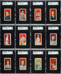 Baseball Cards:Sets, 1910 E96 Philadelphia Caramel SGC Graded Near Set (26/30). ...